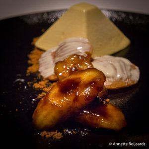 Dessert bij Euromastdiner