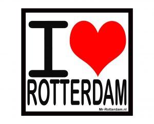 Rotterdam magneetsticker, i love Rotterdam, liefde voor rotterdam, rotterdam souvenir, rotterdam cadeau, rotterdam kado, relatiegeschenk rotterdam